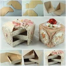 Layered Jewelry Box From Cardboard