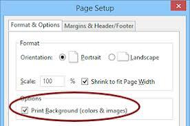 Dialog Page Setup Print Background Firefox