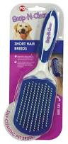 Excessive Hair Shedding In Dogs by Amazon Com Ethical Pets Snap U0027n U0027 Clean Short Hair Dog Brush Large