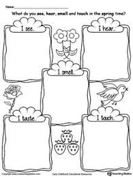 FREE The Five Senses In Spring Time Worksheet Use Printable To Encourage Your Child Explore 5