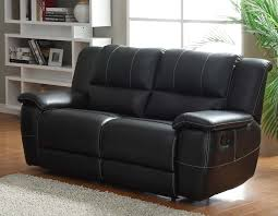 Homelegance Cantrell Love Seat Double Recliner Black Bonded