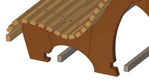 Plans To Build A Wooden Park Bench by Contoured Park Bench Plan