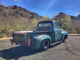 Nice Patina 1955 Ford F 100 Step Side Custom Pickup Truck For Sale
