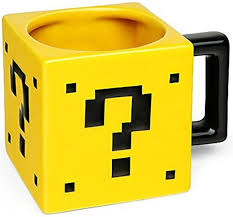 super mario question block mug merch online raru