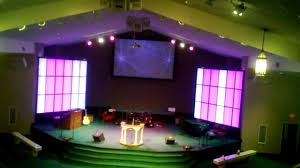led light panel wall project for church
