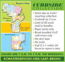 Nyc 311 Christmas Tree Disposal by Kc Water Leaf U0026 Brush