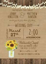 Sunflower Wedding Invitation Mason Jar Rustic Printable Digital File Country Barn Wood Hanging Lights 21