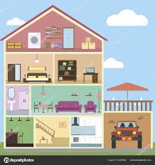 100 Interior Design Inside The House House Interior Design Stock Vector Denisxize 162238982