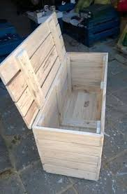 make an easy rustic pallet storage chest simple to follow
