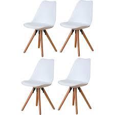 4er set esszimmerstuhl nelle küchenstuhl esszimmer küche stuhl stühle eiche weiß