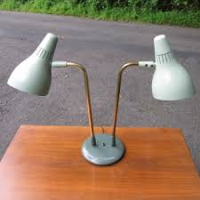 Gerald Thurston Table Lamps by Gerald Thurston For Lightolier Dual Cone Table Lamp Static Age