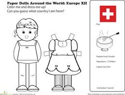 Worksheets Paper Dolls Around The World Europe XII