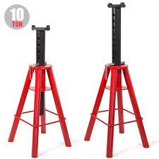 100 Truck Jack Stands 1 PAIR HEAVY DUTY JACK TRUCK SEMI STANDS HIGH LIFT 10 TON PIN 28 TO