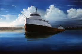 What Time Did The Edmund Fitzgerald Sank by Edmund Fitzgerald Pride Of The American Flag Art Originals