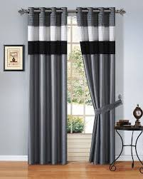 collection in grey and white striped curtains and alston 50x96