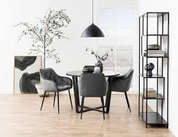 esszimmer stuhl in dunkelgrau schwarz bestellen