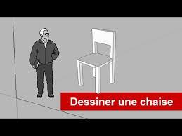dessiner une chaise sketchuppro dessiner une chaise