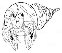 Free Printable Hermit Crab Coloring Pages For Kids Avec Coloriage