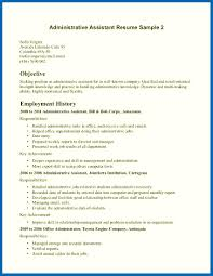 Objective For Resume Assistant Manager Examples Office Sample Clerical Administration Picture Skills Of Simple