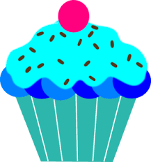 Cupcake clipart turquoise 2
