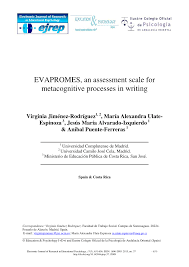 PDF EVAPROMES An Assessment Scale For