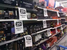walmart halloween items already on clearance