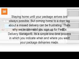 What Is A Fedex Door Tag