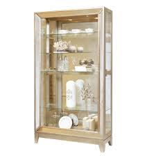 farrah side entry curio cabinet in platinum by pulaski home