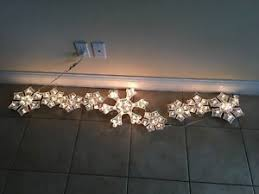 Holiday Xmas 5 Roof Line Holographic Snowflake Lights Indoor