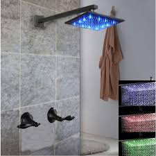 Oil Rain Lamp Instructions by Handle 8 Inch Led Rain Shower Head Oil Rubbed Bronze