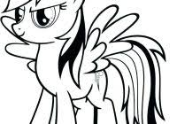 Coloring Pages Rainbow Dash My Little Pony