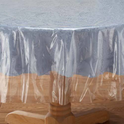 "Crystal Clear Tablecloth Cover - Vinyl Table Protector (70"" Round)"