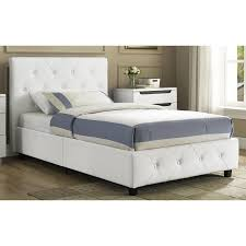 Twin White Bed by Dhp Dakota Upholstered Bed Hayneedle