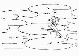 Flower Water Coloring Pages