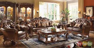 Formal Living Room Chairs by Formal Traditional Sofa Set 2 Pc Antique Sofa Loveseat Living Room