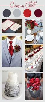 Crimson Chill Wedding Color Palette Red Grey And Maroon Scheme