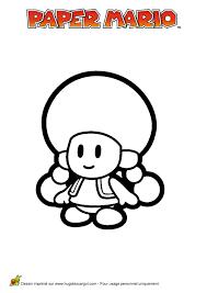 Coloriage Nintendo Paper Mario Toadette