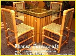 Bamboo Dining Set Table Overwhelming Furniture Ideas Stunning Room Chairs Home Design And Price