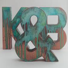 Faux Metal Letters Antique Copper Metal Antique Patina