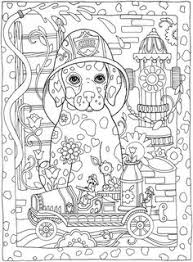 Coloring Pages Be Dazzled With These Cute Dog And Five More Handsome Dogsfrom The Book Creative Haven Dazzling Dogs