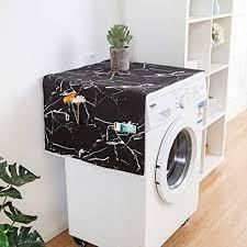 hotgirlhot kühlschrank staubschutz roller waschmaschine schwarz weiss muster für roller waschmaschine einzelne tür kühlschrank tischdecke 55 130 cm