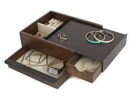 boite a tiroirs en bois boite à bijoux en bois tiroirs de rangement 27 9x20 3x10