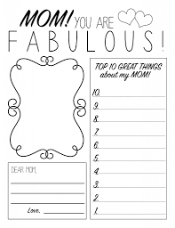 Coloring Pages Free Printable Mothers Day Worksheets And For Moms