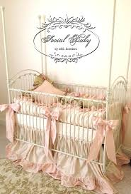 love the way our venetian iron baby crib in antique white looks
