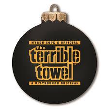 Pittsburgh Steelers Ornament Bulb Terrible Towel Black Jpg 1200x1200 Christmas Tree