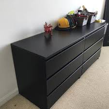 kullen chest with 5 drawers black brown chest of drawers