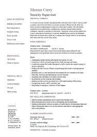 Security Resume Sample Supervisor Example Patrol Job