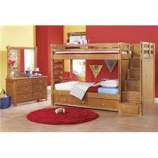 canyon twin sized bunk bed with step storage trundle sold