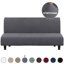Grey Sofa Slipcover Stretch High Spandex Futon Cover/Lounge Covers/Couch  Covers Furniture Covers For 3 Seater Futon Slipcover, Form Fit Stretch, ...