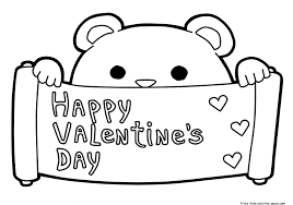 Printable Happy Valentines Day Coloring Pages Februar 14Free